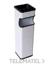 PAPELERA CENICERO CUADRADA 650x190x185 INOXIDABLE con referencia 899474 de la marca CREARPLAST.