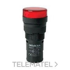 DELECSA 7016220R PILOTO D7016 220V MULTI-LED ROJO