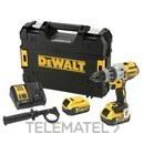 Taladro percutor sin escobillas 18V XR 3 velocidades 5Ah con referencia DCD996P2-QW de la marca DEWALT.