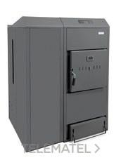 Caldera de biomasa DUAL THERM 25 25-23kW pellet/leña clase de eficiencia energética A+ con referencia TDUA000000 de la marca DOMUSA TEKNIK.