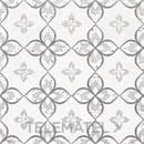 Baldosa MINIMAL CHIC BUREN, porcelánico blanco / gris mate de 20x20cm con referencia 187680 de la marca DUNE.