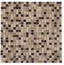 Mosaico EMPHASIS MICRO BEIGE, cristal beige / marrón satinado de 30x30cm con referencia 185403 de la marca DUNE.