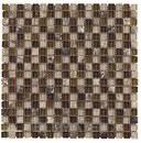 Mosaico EMPHASIS SAFARI, mezcla de materiales beige / marrón satinado de 30x30cm con referencia 185372 de la marca DUNE.