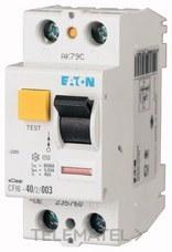 Interruptor diferencial CFI6-40/2/003-DE 2P 4A 3MA con referencia 235760 de la marca EATON.