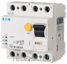 Interruptor diferencial modular FRCDM-40/4/003-G/A con referencia 168648 de la marca EATON.