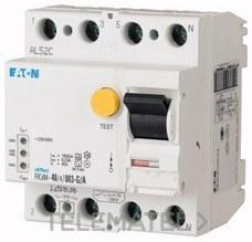 Interruptor diferencial modular FRCDM-63/4/003-U con referencia 168640 de la marca EATON.