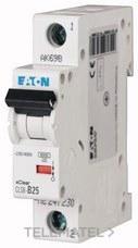 Interruptor magnetotérmco CLS6-C20-DE curva-C 1Mx1P 2A con referencia 247614 de la marca EATON.
