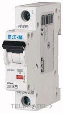 Interruptor magnetotérmco CLS6-C25-DE curva-C 1Mx1P 25A con referencia 247615 de la marca EATON.