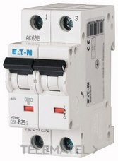 Interruptor magnetotérmco CLS6-C40/2-DE curva-C 2P 4A con referencia 247685 de la marca EATON.