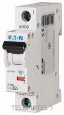 Interruptor magnetotérmco CLS6-C40-DE curva-C 1Mx1P 4A con referencia 247617 de la marca EATON.