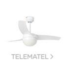 Ventilador EASY diámetro 105cm 3 palas 2xE27 60W blanco con referencia 33415 de la marca FARO.