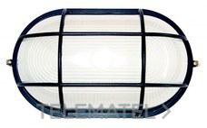 Aplique aluminio oval 100W serie ALPHA negro con referencia 8401 N de la marca FENOPLASTICA.