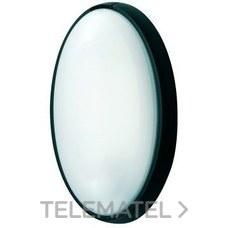 Aplique estanco oval E-27 IP44 anclaje sin tornillo negro con referencia 7400 N de la marca FENOPLASTICA.