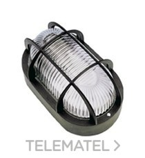 Aplique estanco oval led 6W 700lm protector termoplástico IP44 gris con referencia 7440GLED de la marca FENOPLASTICA.