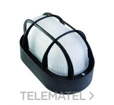 Aplique estanco oval led 6W 700lm protector termoplástico IP44 negro con referencia 7440 N LED de la marca FENOPLASTICA.
