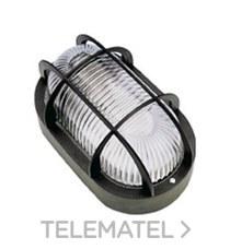 Aplique estanco oval led 6W 700lm protector termoplástico IP44 negro con referencia 7440NLED de la marca FENOPLASTICA.