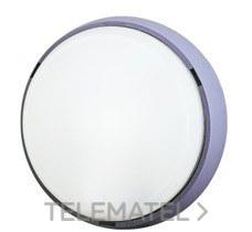 Aplique estanco redondo 18W 2100lm 4000K IP44 gris con referencia 7100 G LED de la marca FENOPLASTICA.
