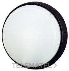 Aplique estanco redondo sin rejilla fijación giro negro con referencia 7100 N de la marca FENOPLASTICA.