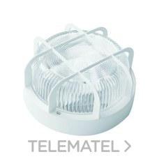 Aplique redondo 100W E27 rejilla polipropileno blanco con referencia 7200 B de la marca FENOPLASTICA.
