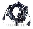 Guirnalda negro 10m cable+12 portalámparas con referencia 900 N de la marca FENOPLASTICA.