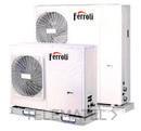 Bomba de calor aerotérmica inverter RVL I PLUS 7 E para climatización y producción de ACS, en instalación monobloc y sistema DC Inverter con referencia 4B2170079 de la marca FERROLI.
