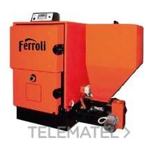 Caldera biomasa ARES 100 con referencia 1D3001007 de la marca FERROLI.