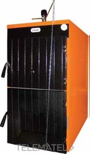 Conjunto caldera de pellets SFL 4 potencia nominal 30Kw para instalaciones de calefacción por agua (caldera SFL+Quemador pellet+puerta transformación + contenedor pellet) clase de eficiencia energética A+ con referencia 1B4504007 de la marca FERROLI.