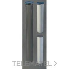 TUBO CHIMENEA MACHO-MACHO 80x250mm ALUMINIO BLANCO con referencia 8-250MMP1 de la marca FIG.