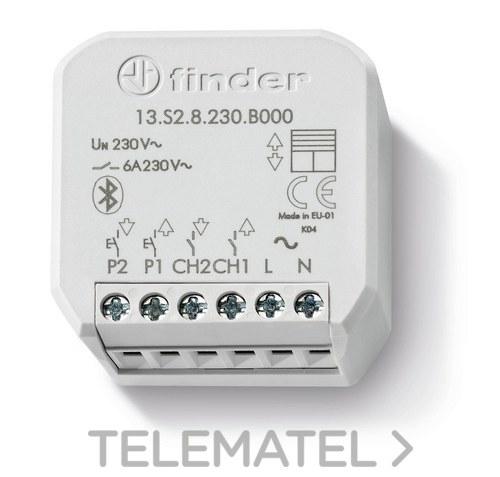 Actuador de persianas Bluetooth Serie 13 YESLY 6A específico para toldos / persianas eléctricas con referencia 13S28230B000 de la marca FINDER.