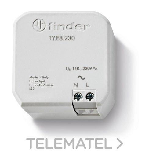 Amplificador de alcance Serie 1Y YESLY 230VAC montaje en caja de mecanismos de 60mm o de derivación con referencia 1YE8230 de la marca FINDER.
