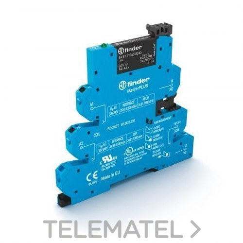 INTERFACE MASTEROUTPUT RELE ELECTROMECANICO 125V con referencia 395101250060 de la marca FINDER.