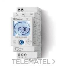 INTERRUPTOR HORARIO SEMANAL 35mm CORRIENTE ALTERNA 50/60Hz 230V con referencia 128182300000 de la marca FINDER.