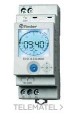 INTERRUPTOR HORARIO SEMANAL SERIE 12 1 CONTACTO 16A 230V con referencia 125182300000 de la marca FINDER.