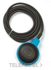 FINDER 72A100000500 Regulador de nivel por flotador con doble cámara SERIE 72, 1 contacto conmutado, cable 5m,