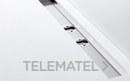 Canaleta con embellecedor de acero doble desagüe 1250x164mm para plato de ducha Elax y platos de obra con referencia CNA2125 de la marca FIORA.
