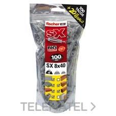 TACO BIG PACK SX 8x40mm 100+20 GRATIS con referencia 519333 de la marca FISCHER.