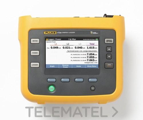 REGISTRADOR TRIFASICO ENERGIA FLUKE-1734/EUS con referencia 4706594 de la marca FLUKE.