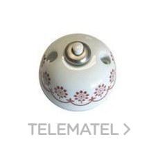 Fontini 30-310-27-2 Pulsador timbre 10a 250v porcelana negro pack