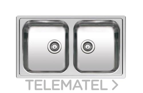 Fregadero de cocina Centurio L20 180mm acero inoxidable con referencia Centurio L20 de la marca GALINDO.