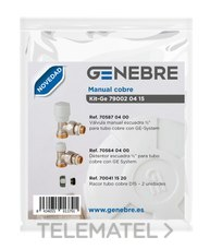 Kit GE manual cobre 705870400 + 705640400 + 700701520 con referencia 79002 04 15 de la marca GENEBRE.