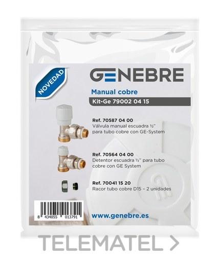 Kit GE manual cobre 705870400 + 705640400 + 700701520 con referencia 79002 04 15 de la marca GENEBRE.