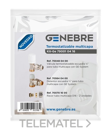 Kit GE termotizable multicapa 700480400 + 705640400 + 700701600 con referencia 79001 04 16 de la marca GENEBRE.