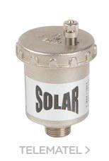 """PURGADOR AUTOMATICO AIRE PARA ENERGIA SOLAR 3/8"""" LATON NIQUELADO con referencia 700370300 de la marca GENEBRE."""