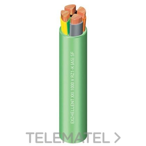 Cable Exzhellent 1000V RZ1-K( AS)3G4 Clase 5 verde R100 con referencia 1997308VDP de la marca GENERAL CABLE.