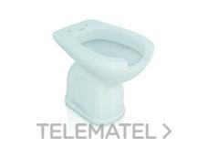 Inodoro porcelana con apertura higiénica salida suelo con referencia GW11 42 07 00 de la marca GENWEC.