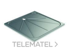 Plato de ducha 700x700mm inoxidable 304 satinado con referencia GW08 68 04 01 de la marca GENWEC.