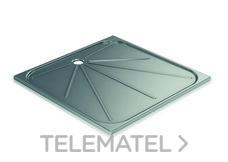 Plato de ducha 800x800mm inoxidable 304 satinado con referencia GW08 69 04 01 de la marca GENWEC.