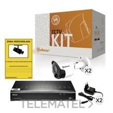 GOLMAR 31600904 Kit-2BHVR1P con DVR y dos bullet PIR