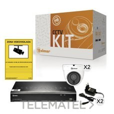 GOLMAR 31600903 Kit-2DHVR1P CON DVR Y DOS DOMOS PIR