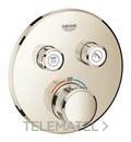 Termostato Smartcontrol 2 salidas redondo níquel con referencia 29119BE0 de la marca GROHE.